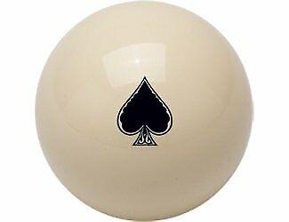 Outlaw Cueball Black Spades Logo Pool/Billiard Ball
