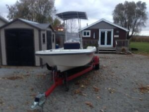 115 Yamaha 4 stroke like new motor 17' Mako & Trailer $13,500