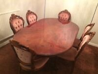 ITALIAN DESIGN DINNING TABLE + CHAIRS FOR SALE