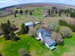 Country Home on 68 acres for sale, on main Oliver road.