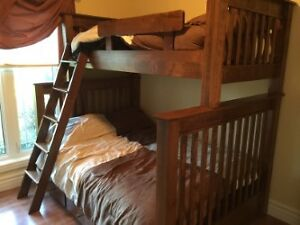 Maple Wood bunk beds for sale - excellent condition