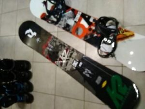 2 boards 2 sets of boots and 1 set of bindings used under 10x