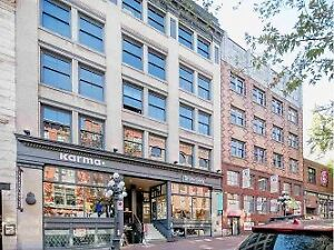 Character Loft in Heritage building for rent in Old Gastown.