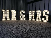 FOR HIRE MR & MRS*LOVE*PROM GIANT LED LETTER LIGHTS LONDON/SURREY AREA