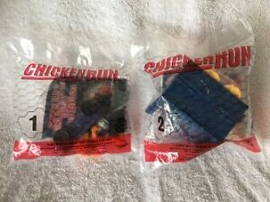 """""""CHICKEN RUN"""" Complete Set of 4 Burger King Toys (Mint/Sealed)"""