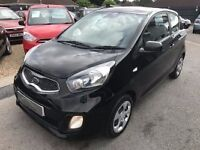 2012/61 KIA PICANTO 1.0 1,3 DOOR,BLACK,£FREE ROAD TAX,EXCELLENT ECONOMY,LOOKS AND DRIVES REALLY WELL