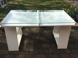 Ikea Vika Gruvan Glass Topped Desk