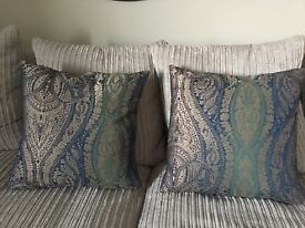 Two Matching Patterned Cushions