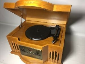 Philco Retro Style Turntable--CD--Cassette Player