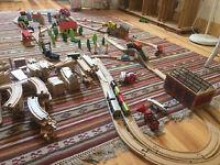 Large Wooden Train Track Bundle
