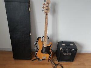 """Basse Squier """"Precision"""" + Étui + Amplificateur Fender 15W"""