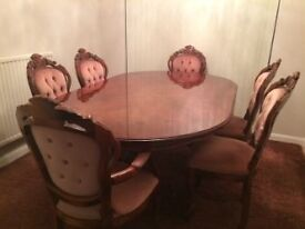 ITALIAN DINNING TABLE + 6 CHAIRS