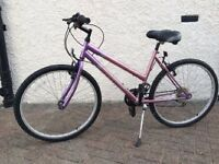 "Girls 24"" bicycle lilac and pink in colour - nearly new"