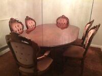 ITALIAN DESIGN DINNING TABLE + 6 CHAIRS