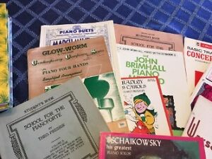 Vintage Song books and sheet music mostly piano