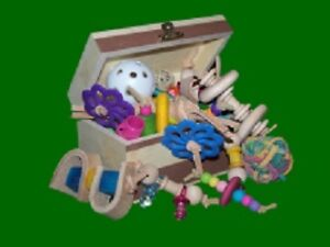 Bird safe toys and toy parts