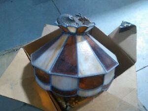 Vintage Led Stained Glass Light