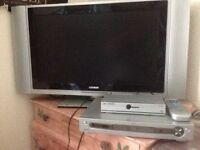 Flat Screen TV, DVD player and free view box