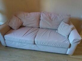 3 Seater Fabric Sofa: Beige