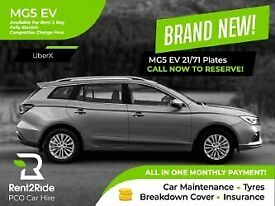 NO DEPOSIT REQUIRED | PCO Car Hire w/ Insurance- Brand New 2021 MG5 EV Long Range Exclusive