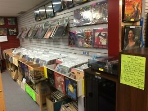 Large selection of Vinyl Records, 44's, 78's, etc.