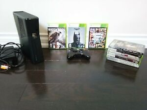 250 GB Xbox 360 slim with 10 games including GTA 5