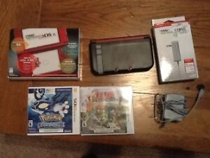 """The """"New"""" Nintendo 3DS XL with case, charger and games"""