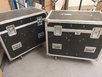Large wheeled flight cases