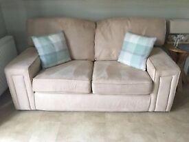 2 Seater Sofa - Cream Fabric
