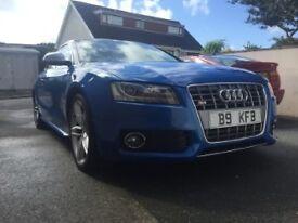 Audi S5 4.2 V8 FSI QUATTRO - Manual, Sprint Blue, Cream leather, 12 months MOT.