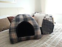 pet carrier and pet bed igloo