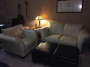 Italisofa Leather loveseat and matching chair
