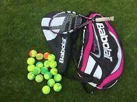 Babolat Pure Drive 25 inch junior tennis racquet and bag for sale  Calverton, Nottinghamshire