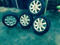 "vw audi seat skoda 16"" alloy wheels and tyres for sale"