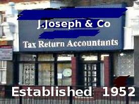 SELF ASSESSMENT TAX RETURNS : J.Joseph & Co, Est.1952, ACCOUNTANTS (Opp. Ealing Common Underground)