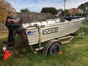 Quintrex Dory & Mercury 30HP O/B no salt water use  good trailer Newport Hobsons Bay Area Preview