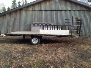 Double quad or sled trailer