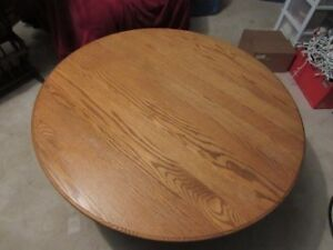 SOLID OAK COFFEE TABLE AND TWO END TABLES