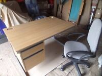 Modern two drawer office desk with fully adjustable office seat