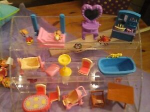small doll furniture some vintage all plastic all mixed names