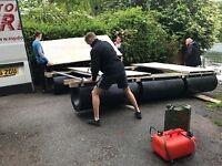 PONTOON HOUSEBOAT FLOATS UK MANUFACTURED