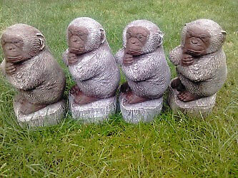XMAS SALE. Chimp on log*was £8 now £6 each*