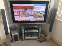 "Sony TV Wega 42"", Surround system, DVD and Glass Table"