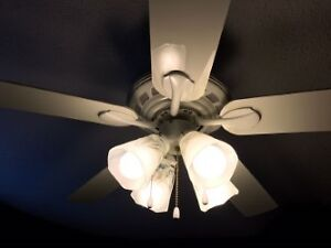 white hunter ceiling fan with lights