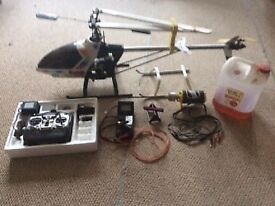 Hirobo shuttle radio controlled helicopter
