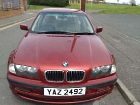 1999 BMW 323i SE Automatic 2494cc petrol . Only 31600 genuine miles, Siena Red, Mint Condition.