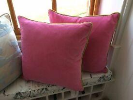 Andrew Martin Velvet Cushions