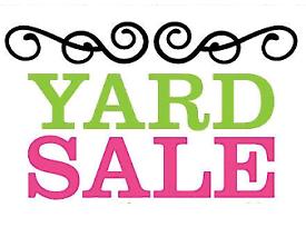 Yard sale this Saturday!!!
