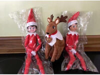 Red girl or boy elf on the shelf elf pets reindeer xmas Christmas toy