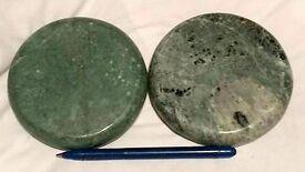 Jade hot & cold large massage stones